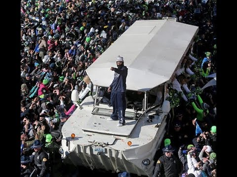 Million Man Marshawn Lynch March, Leading Seattle Seahawks Super Bowl Victory Parade)