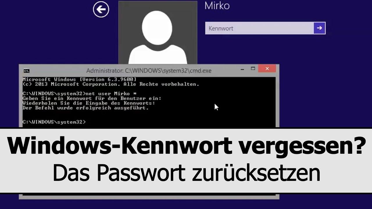 Windows Kennwort Vergessen Windows Passwort Hacken Und Zurucksetzen Reset Mit Bordmitteln Youtube