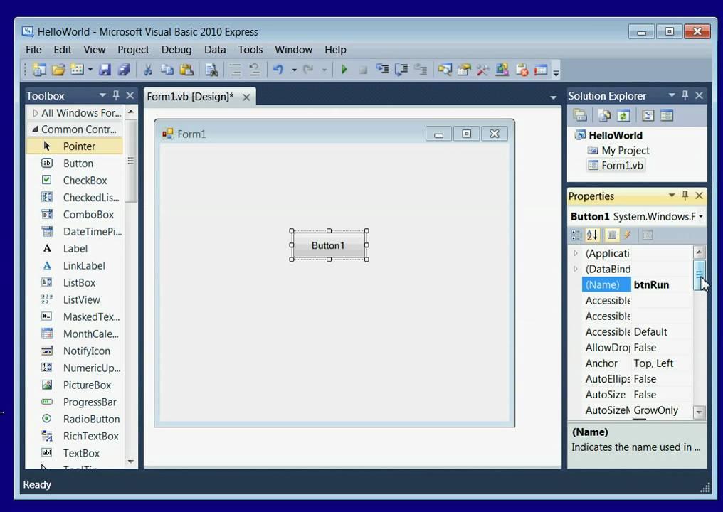 visual basic 2010 free  for windows 10
