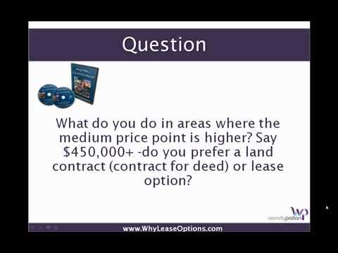 Lease Option Investing with High End Properties