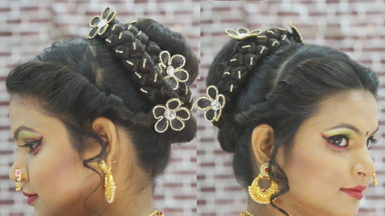 मराठी ब्राइडल हेयर स्टाइल marathi bridal
