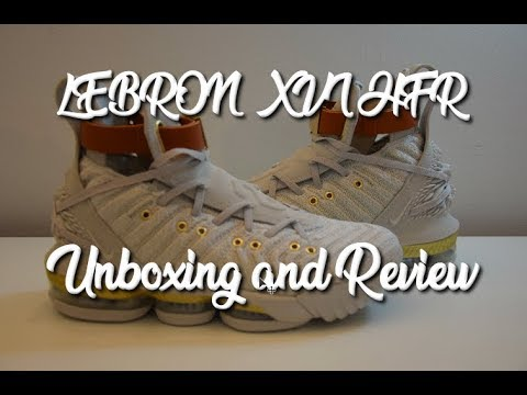 5af64b41362b Lebron 16 W XVI HFR LMTD - Unboxing and Review - YouTube