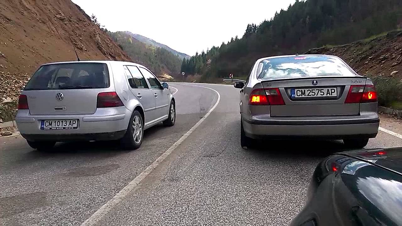 Saab 9-5 3.0 TID VS. VW GOLF MK4 1.8T - YouTube
