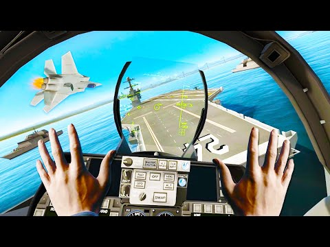 I Crashed a Jet on an Aircraft Carrier in the most EPIC Flight Simulator Ever in VTOL VR! |