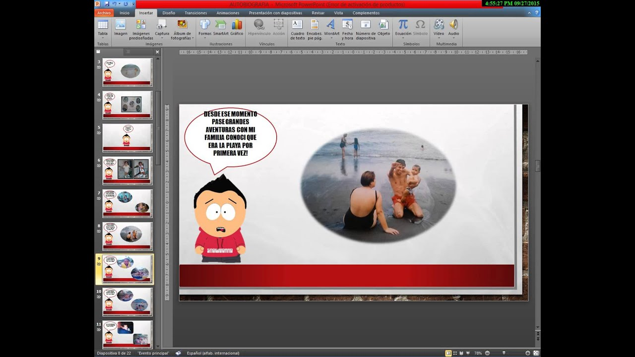 POWER POINT AUTOBIOGRAFIA - YouTube