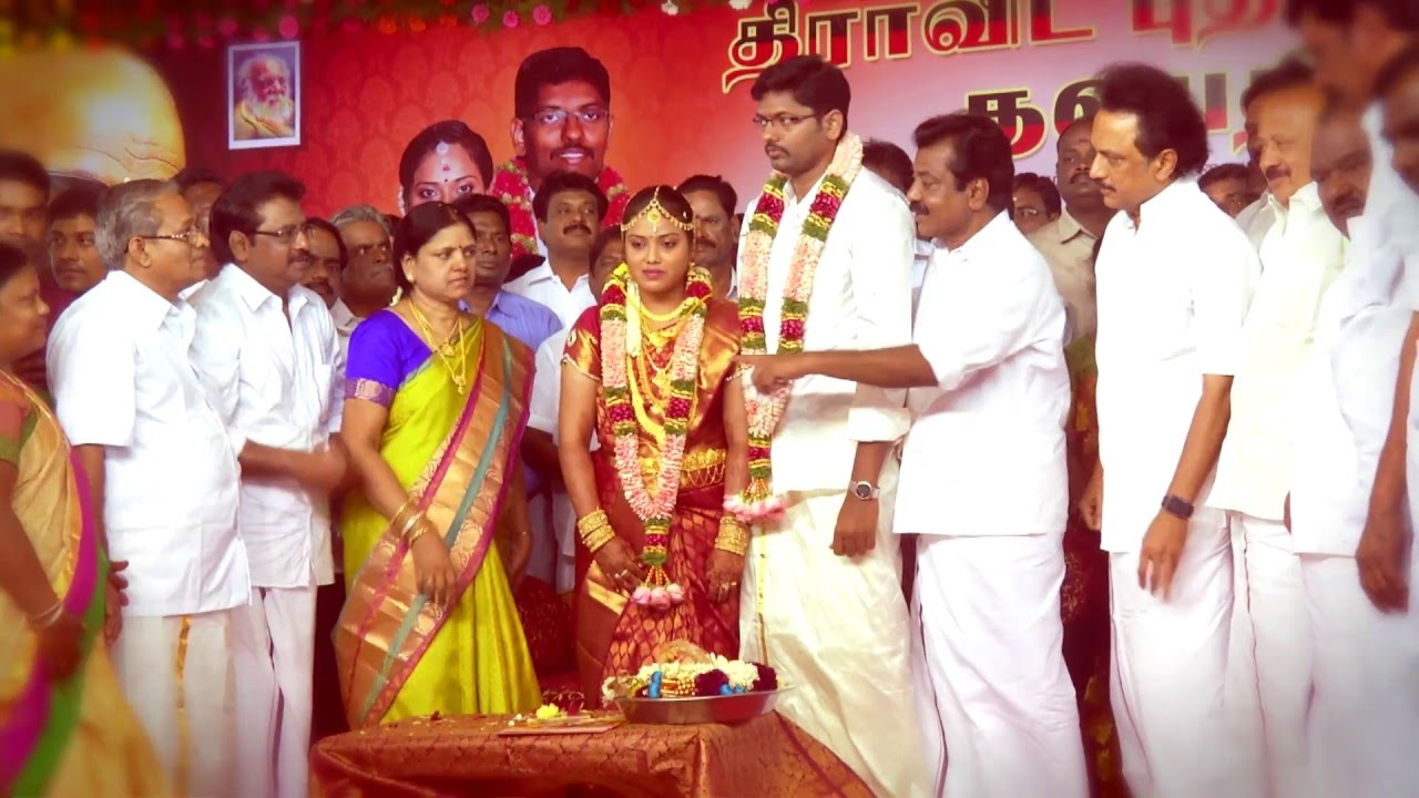 Thalapathy MK Stalin solemnizes the family wedding of party ...
