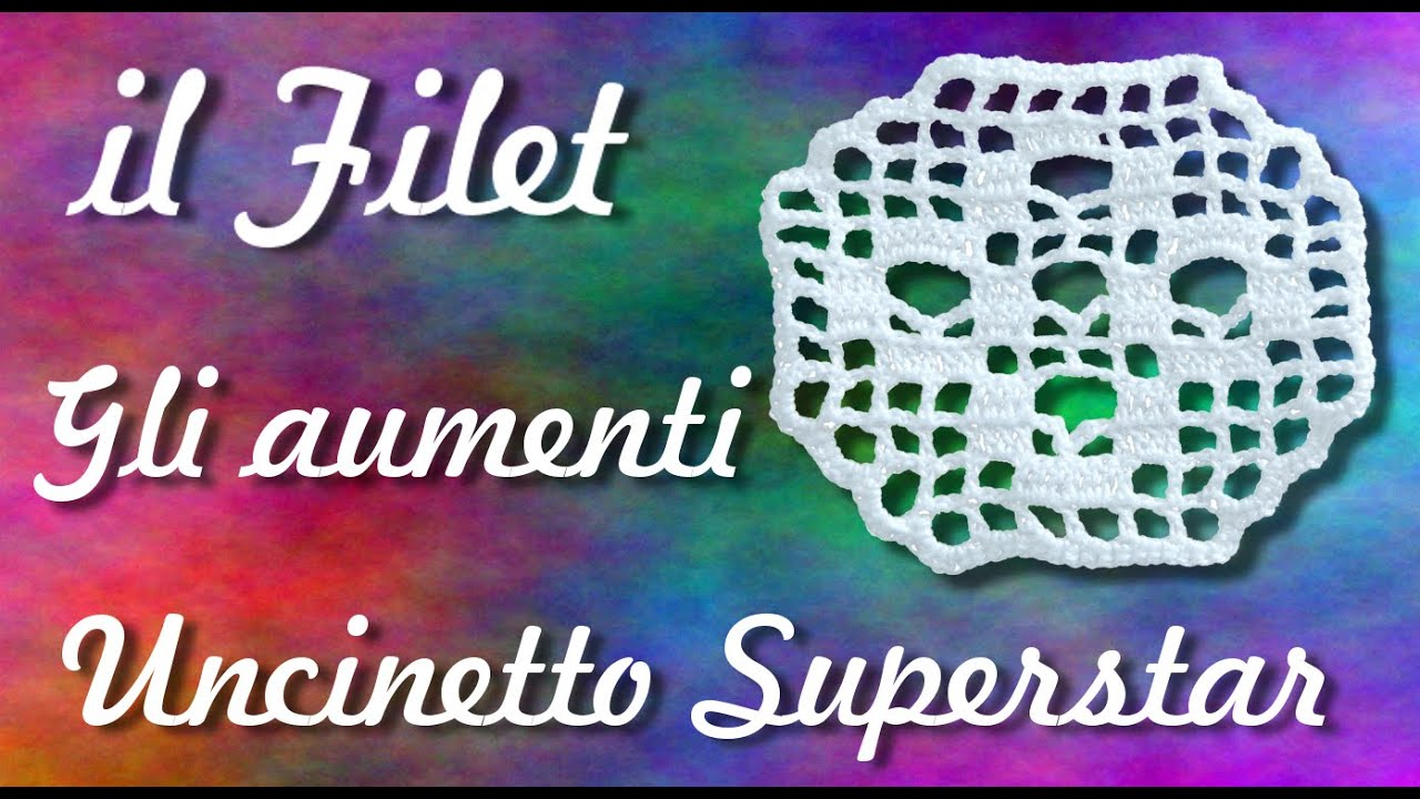 Aumenti a filet uncinetto filet crochet tutorial how for Burda filet all uncinetto