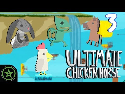 Let's Play - Ultimate Chicken Horse - Not the Cheddar (Part 3)
