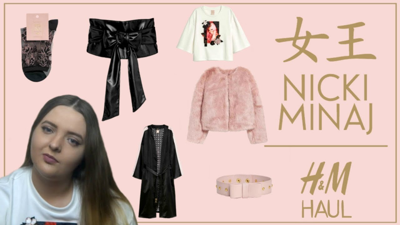 nicki minaj x h m clothing haul winter 2018 beauty jamm youtube. Black Bedroom Furniture Sets. Home Design Ideas