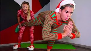 Video COUPLES CHRISTMAS YOGA CHALLENGE! download MP3, 3GP, MP4, WEBM, AVI, FLV Desember 2017