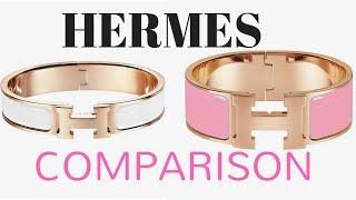 HERMES CLIC H VS CLIC CLAC BRACELET COMPARISON