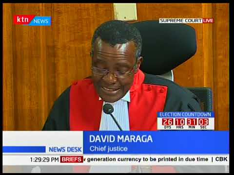 Chief Justice David Maraga's final remarks on election petition