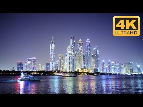 Amazing Cityscape in 4K Resolution: Dubai City at Night