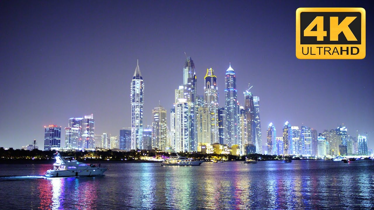 amazing cityscape in 4k resolution: dubai city at night - youtube