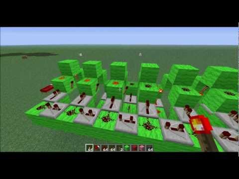Minecraft Tutorial Automatic Traffic Lights | Shift Register | Encoder | Decoder | Hobby Circuit