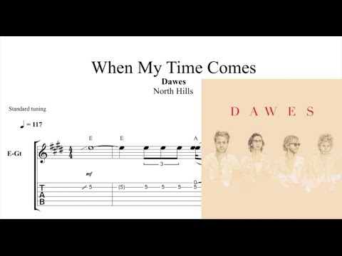 When My Time Comes Dawes Solo Transcription Tabs Youtube