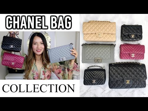CHANEL BAG COLLECTION 2018 | Classic flap, mini flap, boy bag, coco handle | Isabelle Ahn
