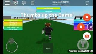 Playing super hero tycoon on Roblox