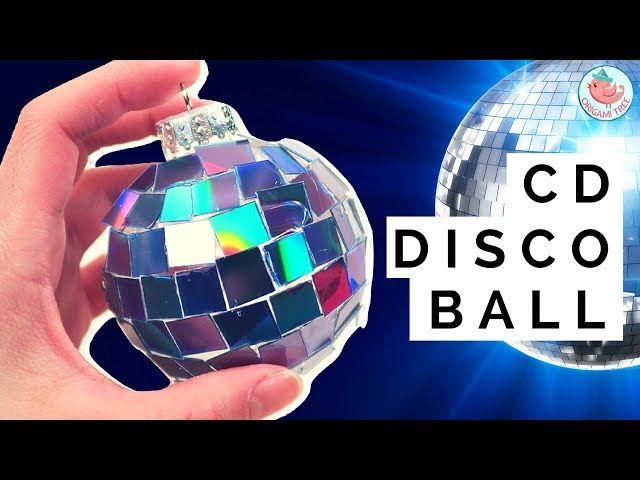 New Years Crafts Idea - DIY Disco Ball CD Ornament - How to Make a Disco Ball w/ Old CDs & Recycle
