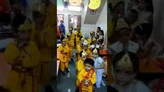 Cute kids in school Program on krishna Janmashtami