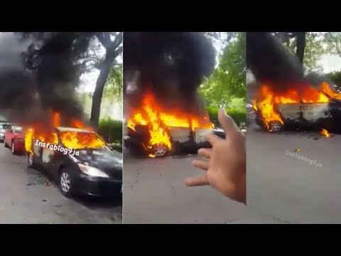 Haa! Wife Burns Husband's Car Over Divorce, Women React (Watch Video)