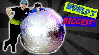 Incredible GIANT Polished Aluminum Foil Ball Challenge - World's BIGGEST Mirror Foil Ball