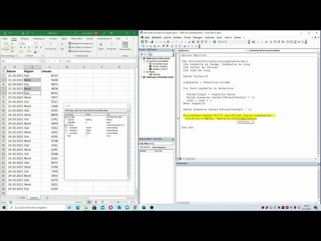 268: Excel-VBA: Den Datenfilter von Excel um eine weitere Funktion erweitern