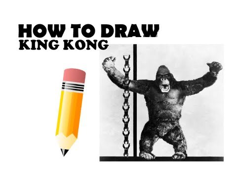 How To Draw King Kong Universal Youtube