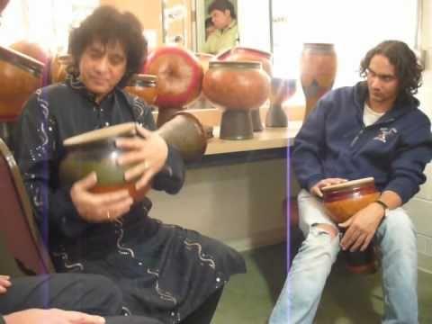 Zakir Hussain checks out ZBG Percussion Instruments