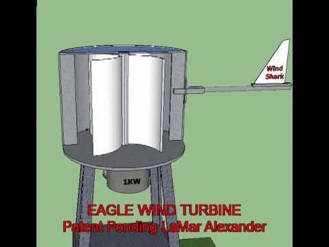 Eagle Vertical Axis Wind Turbine by LaMar Alexander