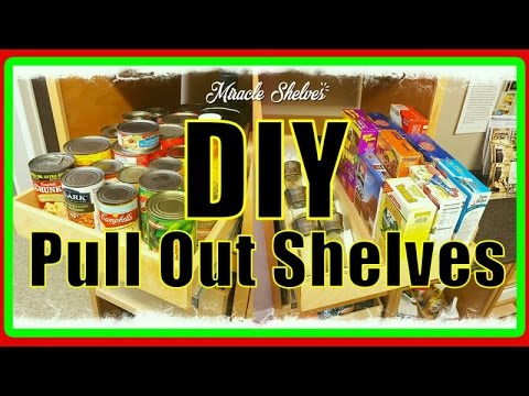 DIY Pull Out Shelves for Kitchen and Pantry