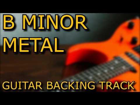 B MINOR METAL GUITAR BACKING TRACK // 130BPM