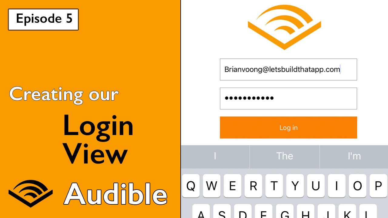 Amazon Audible Login Swift 3 Audible Creating Our Login View And Keyboard Observing Ep 5