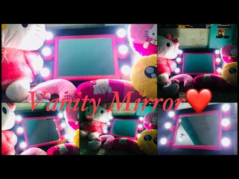 DIY Vanity Mirror with Hello Kitty set