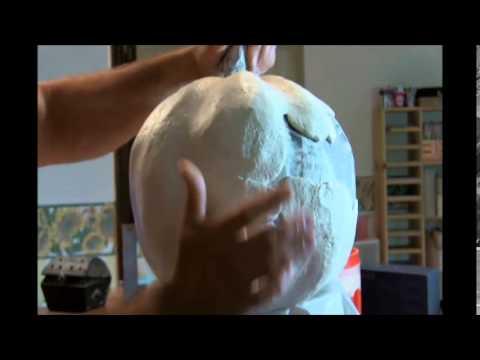 How to make a paper mache pumpkin part 2
