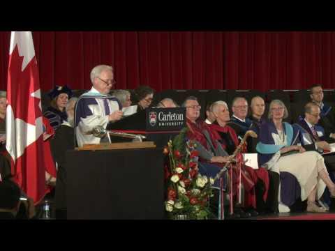 Daniel Poliquin awarded degree Doctor of Literature (Carleton University, 150th Convocation)