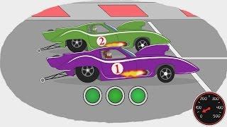Мультик - Раскраска. Учим Цвета - Самые быстрые автомобили(Самые быстрые автомобили в новой серии
