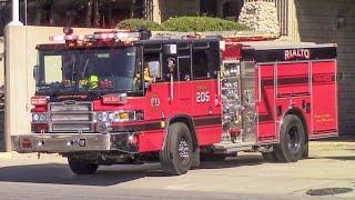 Rialto Fire Dept. Medic Engine & Medic Amb. 205