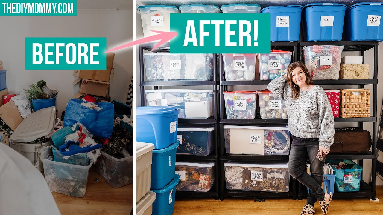 REAL storage organization that's simple and practical! BEFORE & AFTER