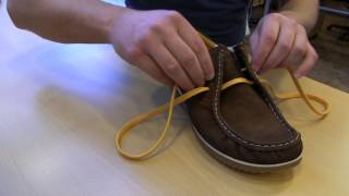 видео Как завязать топсайдеры