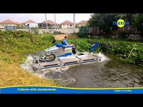 Truxor Removing Aquatic Vegetation