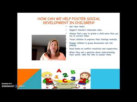 Social, Emotional and Behavioral Development in Early Childhood