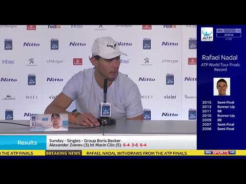 Rafael Nadal withdraws from 2017 ATP Finals (Press conference)