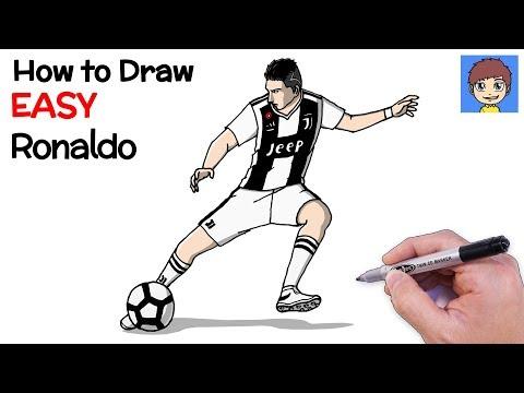 How To Draw Ronaldo Step By Step - Cristiano Ronaldo Drawing