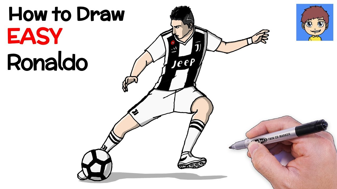 How To Draw Ronaldo Step By Step Cristiano Ronaldo Drawing Youtube