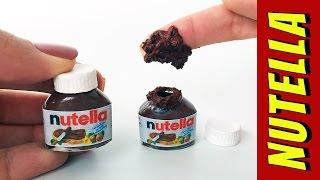 Como Fazer Mini Nutella para Barbie e Outras Bonecas!