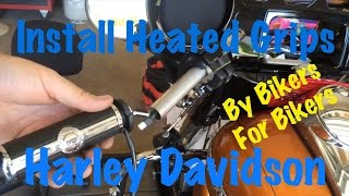 Install Harley Brand Heated Grips on a Harley Davidson-Guide & Tutorial -  YouTube | Harley Heated Grips Wiring Diagram 2014 |  | YouTube