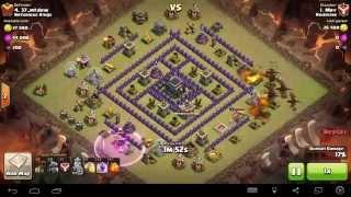 Clash of clans HDV9 vs HDV9 | Dragons, Ballons | DrakeLoon | Sans Reine