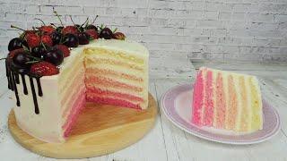Торт Молочная девочка / ТЕСТИРУЕМ 4 вида сгущёнки, 4 вида пергамента, 2 рецепта / Стиль ОМБРЕ