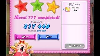 Candy Crush Saga Level 777   ★★★   NO BOOSTER